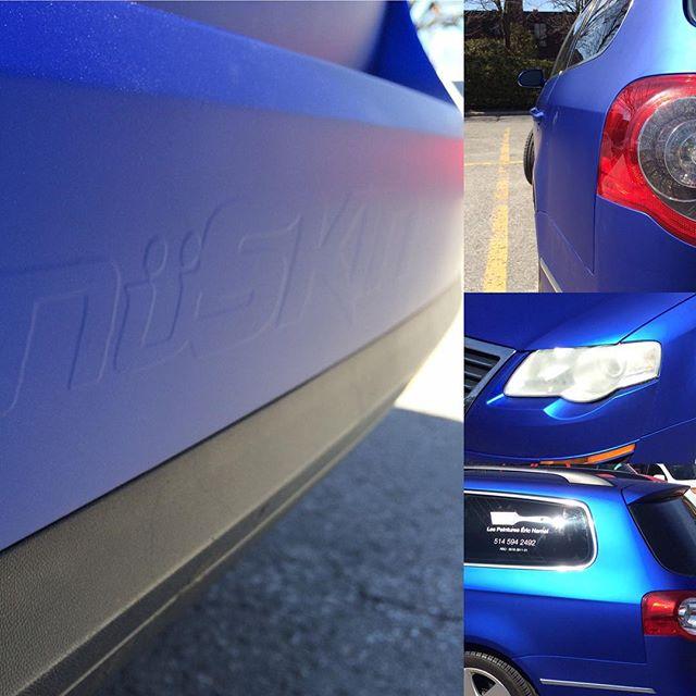 Satin blue #chrome #viviidvinyl #nuskingraficas #vw #passat #chromewraps #colorchange