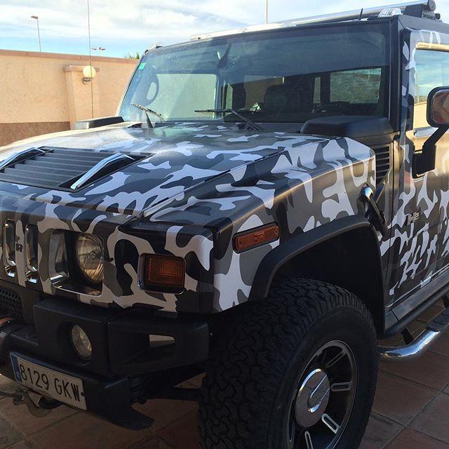 Hummer H2 APA + laminación satinado #hummer #cochesespaña #marbellacars #marbellacarwrapping #españa