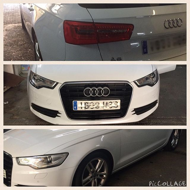 Audi A6 paint protection film, pelicua anti rayones #marbellacarwrapping #malagacarwrapping #nusking
