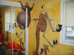 Islamabad wall graphics decoration,