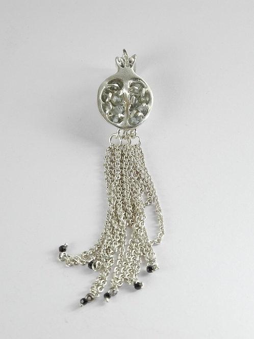 Anhänger Granatapfel mit Aquamarin / pendant Pomegranate with Aquamarine