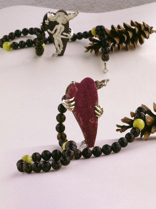 Kollier Goldfingers Koboldherz / necklace Goldfinger's Goblin Heart