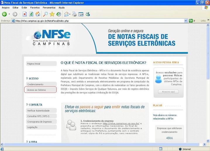 IMPORTAÇÃO DO ARQUIVO DE NFS-e !