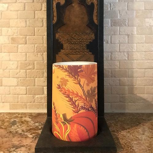 Pumpkin of Fall,  Flameless Candle , 4x6, Keleka Designs