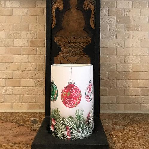 Christmas Ornaments, Flameless Candle, 4x6, Keleka Designs