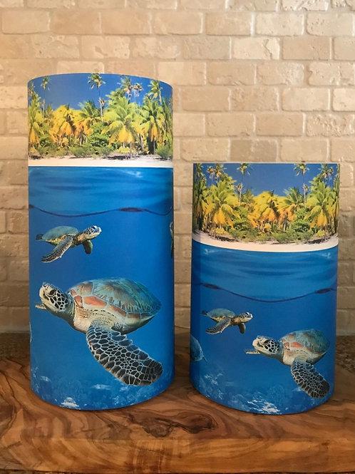 Sea Turtles, Set, Flameless Candle, 4x6,4x8, Keleka Designs