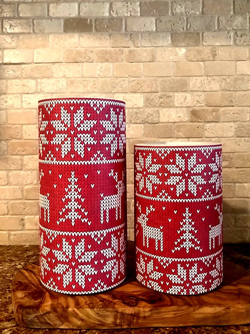 The pretty ugly sweater, Set, Flameless Candle, 4x6, 4x8, Keleka Designs