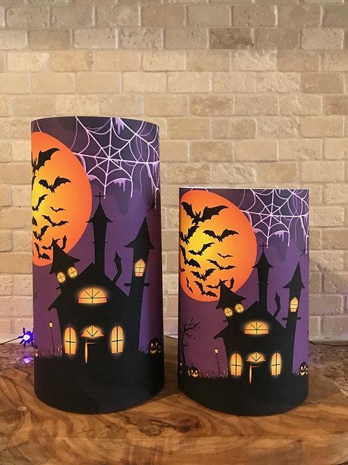 Halloween  Nights, Set, Flameless Candle, 4x6,4x8, Keleka Designs