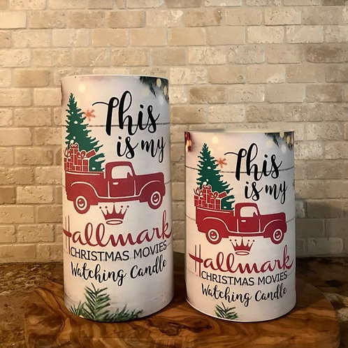 Hallmark Christmas Movies, Set, Flameless Candle, 4x6, 4x8, Keleka Designs