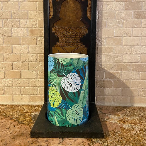 Earth Palms, Flameless Candle,  4x6, Keleka Designs
