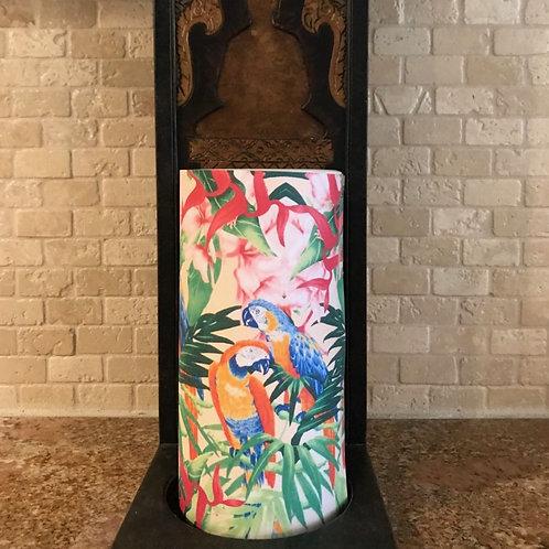 Paradise Parrots, Tall, Flameless Candle, 4x8, Keleka Designs