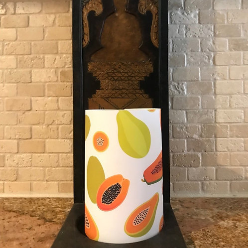 Sweet Papaya, Flameless Candle, 4x6, Keleka Designs