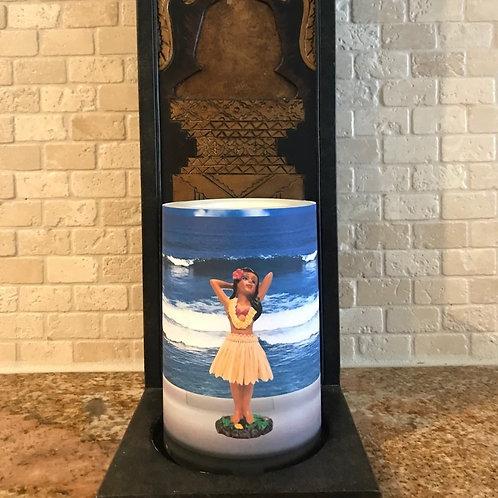 Dashboard Hula Girl, Flameless Candle, 4x6, Keleka Designs