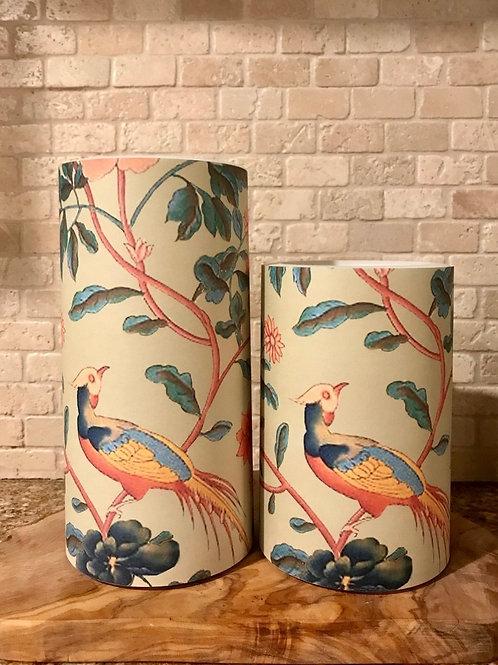 Birds Blooming, Set, Flameless Candle, 4x6, 4x8, Keleka Designs