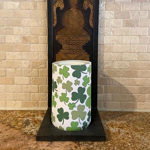 Lucky Clovers,  Flameless Candle,  4x6, Keleka Designs