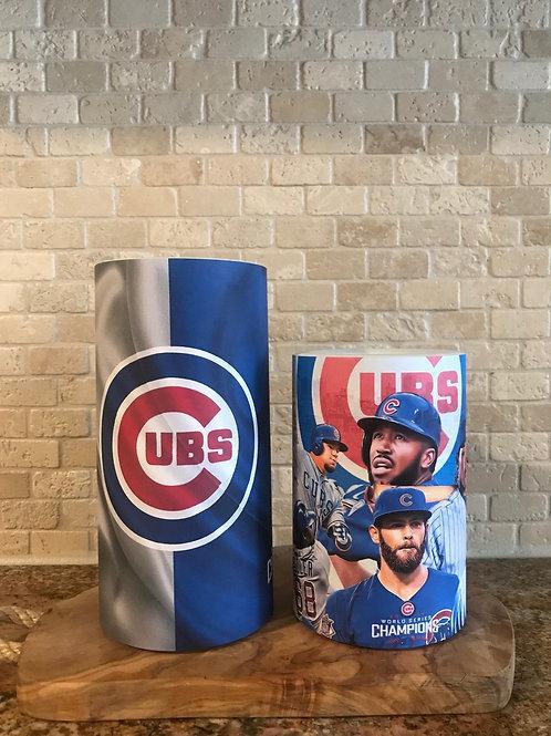 Chicago Cubs, Set, Flameless Candle, 4x6, 4x8, Keleka Design