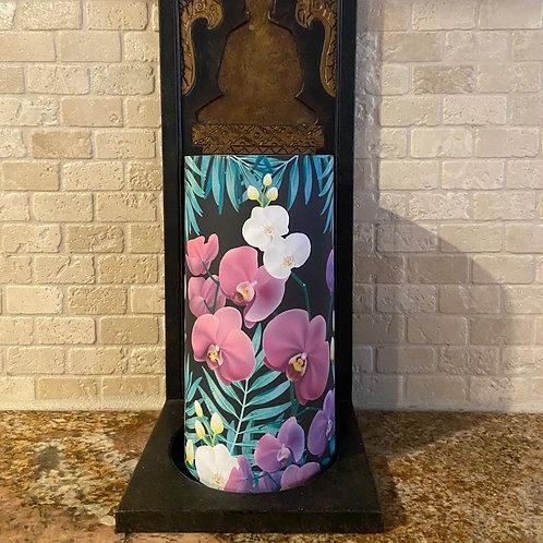 Wild Orchids, Tall, Flameless Candle, 4x8, Keleka Designs