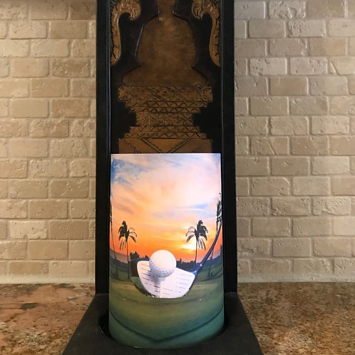 Golf in Paradise, Flameless Candle, 4x6, Keleka Designs
