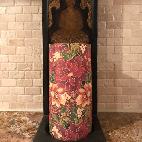 Pretty Poinsettia, Tall, Flameless Candle , 4x8, Keleka Designs