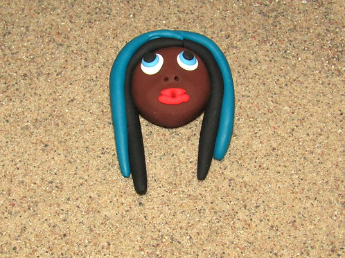 Incense holder, Blue and Black, Keleka Designs