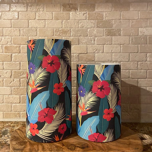Paradise, Set, Flameless Candle, 4x6, 4x8, Keleka Designs
