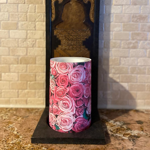 Forever Roses, Flameless Candle, 4x6, Keleka Designs