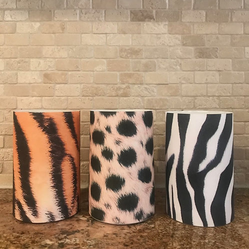 Luxury Animal Prints, Flameless Candle,  4x6, Keleka Designs