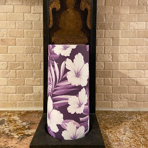 Hibiscus Dawn, Tall,  Flameless Candle, 4x8, Keleka Designs
