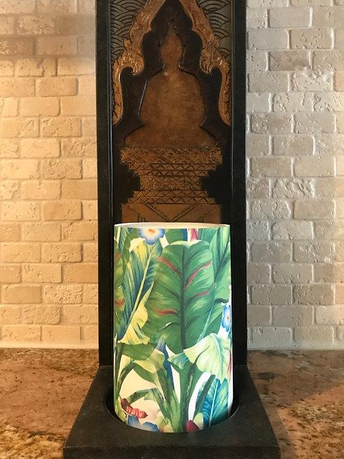 Luxurious Palms, Flameless Candle, 4x6, Keleka Designs