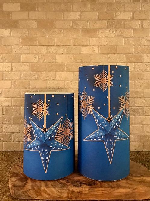 Dreamy Snowflakes, Set, Flameless Candle, 4x6, 4x8, Keleka Designs