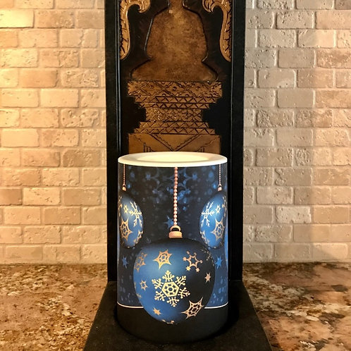 Holiday Elegance,  Flameless Candle, 4x6, Keleka Designs