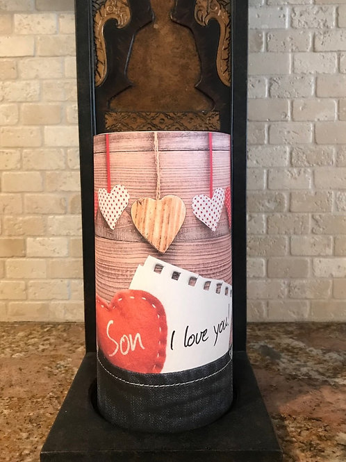 Son I Love You, Tall,  Flameless Candle, 4x8, Keleka Designs