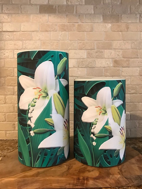 Lilies, Set, Flameless Candle, 4x6, 4x8, Keleka Designs