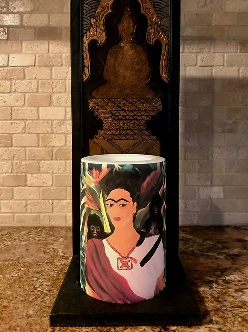 Frida,  Flameless Candle, 4x6, Keleka Designs