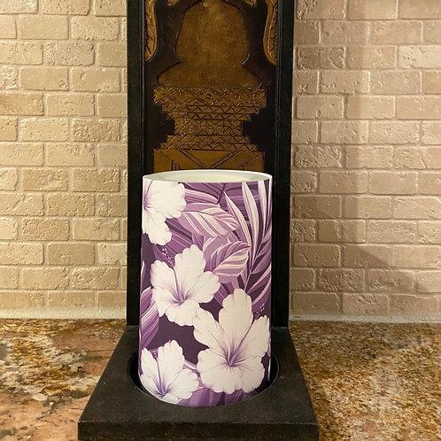 Hibiscus Dawn,  Flameless Candle, 4x6, Keleka Designs