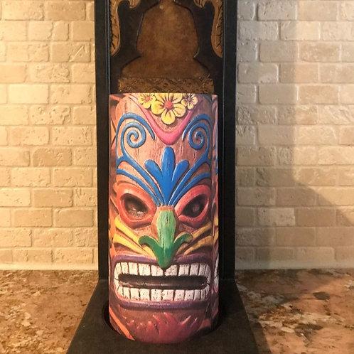 Tiki Time, Tall, Flameless Candle, 4x8, Keleka Designs