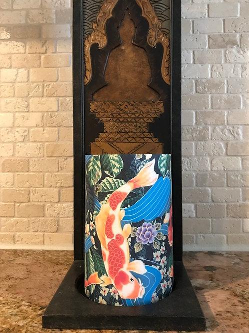 Koi Fish Pond, Flameless Candle, 4x6, Keleka Designs