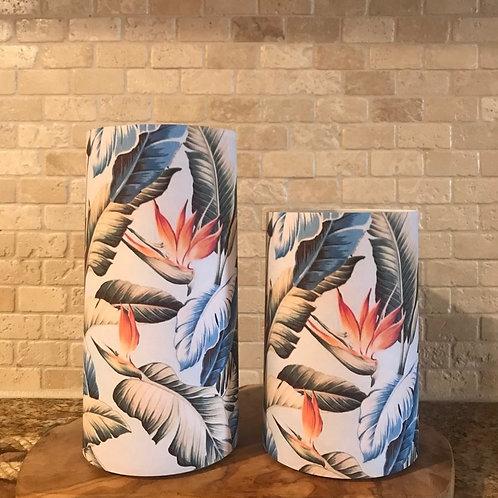 Blue Paradise, Set, Flameless Candle, 4x6,4x8, Keleka Designs