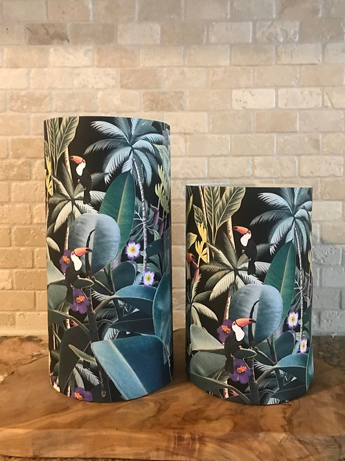 Toucan Birds of Paradise, Set, Flameless Candle, 4x6, 4x8, Keleka Design