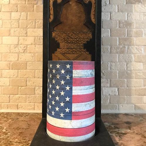 Americana Flag, Flameless Candle, 4x6, Keleka Designs