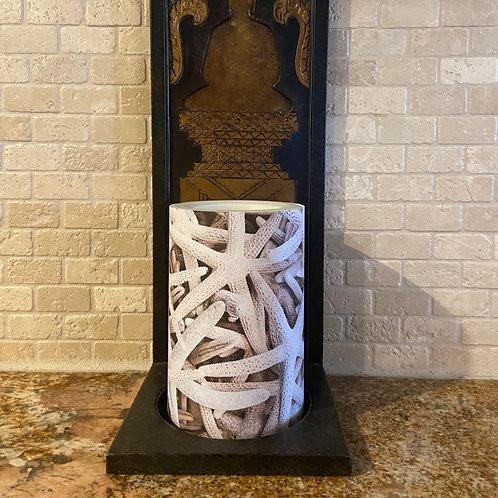 Starfish,  Flameless Candle, 4x8, Keleka Designs
