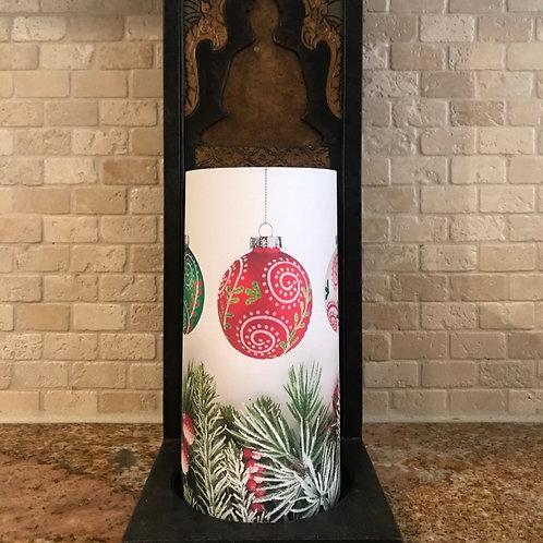 Christmas Ornaments, Tall, Flameless Candle, 4x8, Keleka Designs