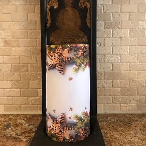 White Pine, Tall, Flameless Candle , 4x8, Keleka Designs