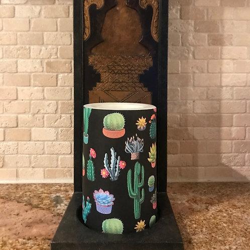 Cactus Love, Flameless Candle, 4x6, Keleka Designs