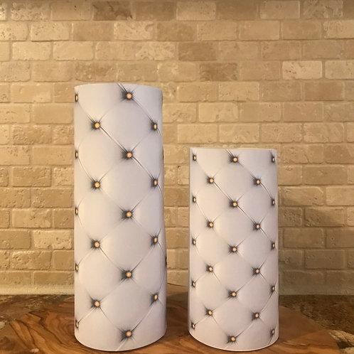 Luxury Leather, Set, Flameless Candle, 3x6,3x8, Keleka Designs