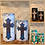 Thumbnail: Vintage Cross, Set, Flameless Candle, 4x6, 4x8, Keleka Designs
