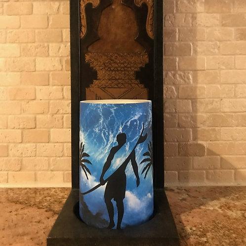 Surf's Up, Flameless Candle, 4x6, Keleka Designs