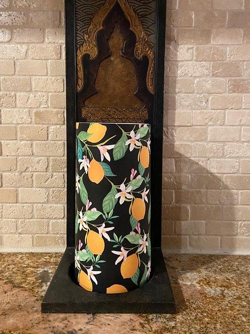 Lovely Lemons, Tall, Flameless Candle,  4x8, Keleka Designs