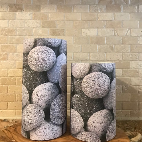 Lava Rocks, Set, Flameless Candle, 4x6,4x8, Keleka Designs