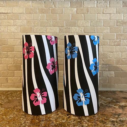 Tropical Zebra, Tall, Flameless Candle, 4x8, Keleka Designs
